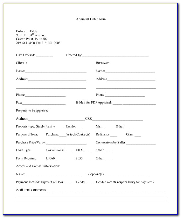 Real Estate Appraisal Letter Format