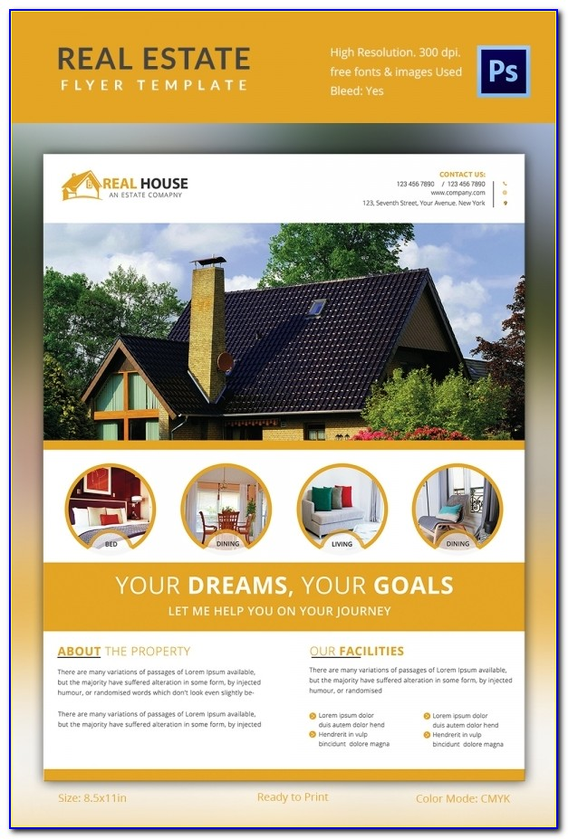 Real Estate Brochure Psd Template
