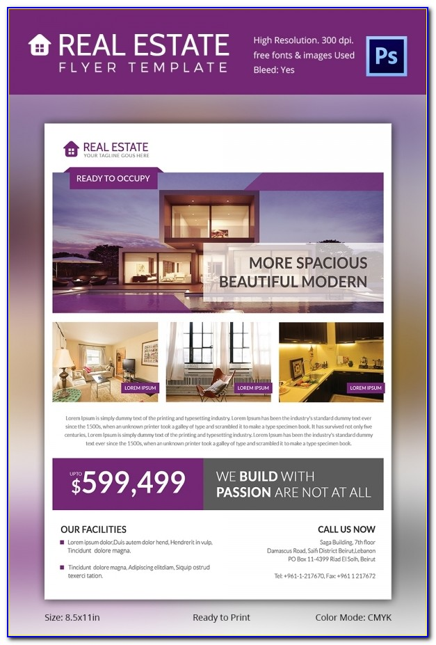 Real Estate Brochure Template Word