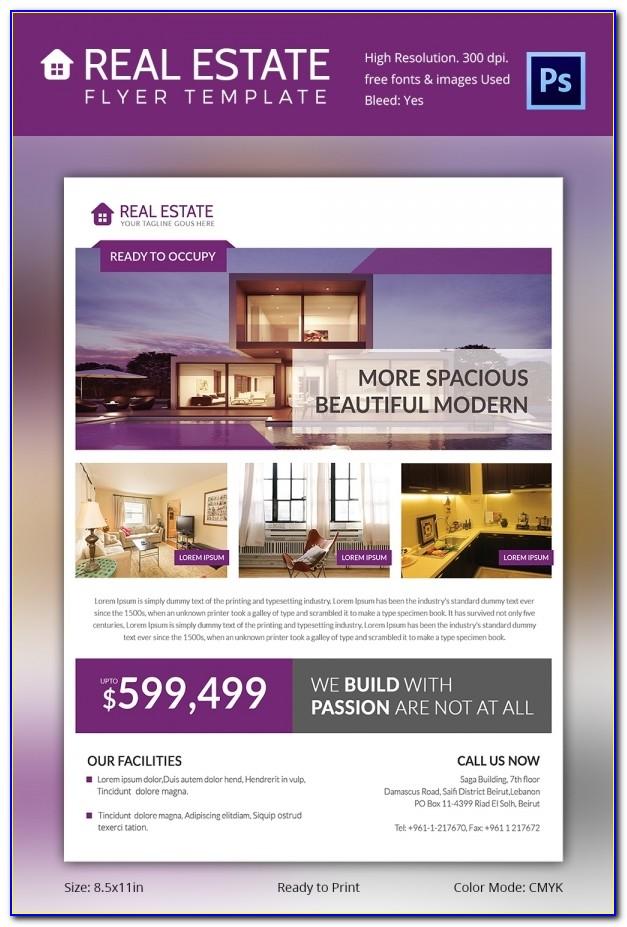 Real Estate Brochure Template Word