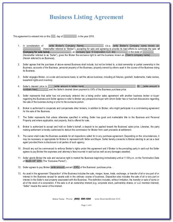 Real Estate Commission Agreement Form