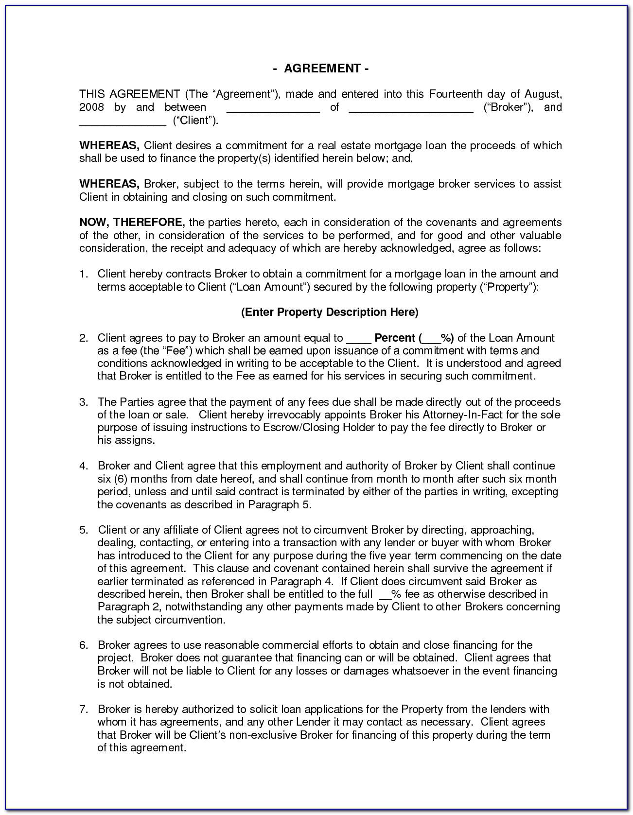 Real Estate Commission Agreement Format