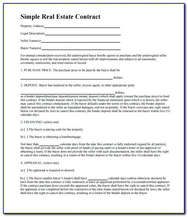 Real Estate Contract Template Uk