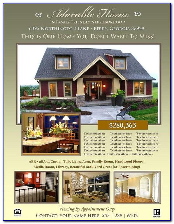 Real Estate Flyer Template For Publisher
