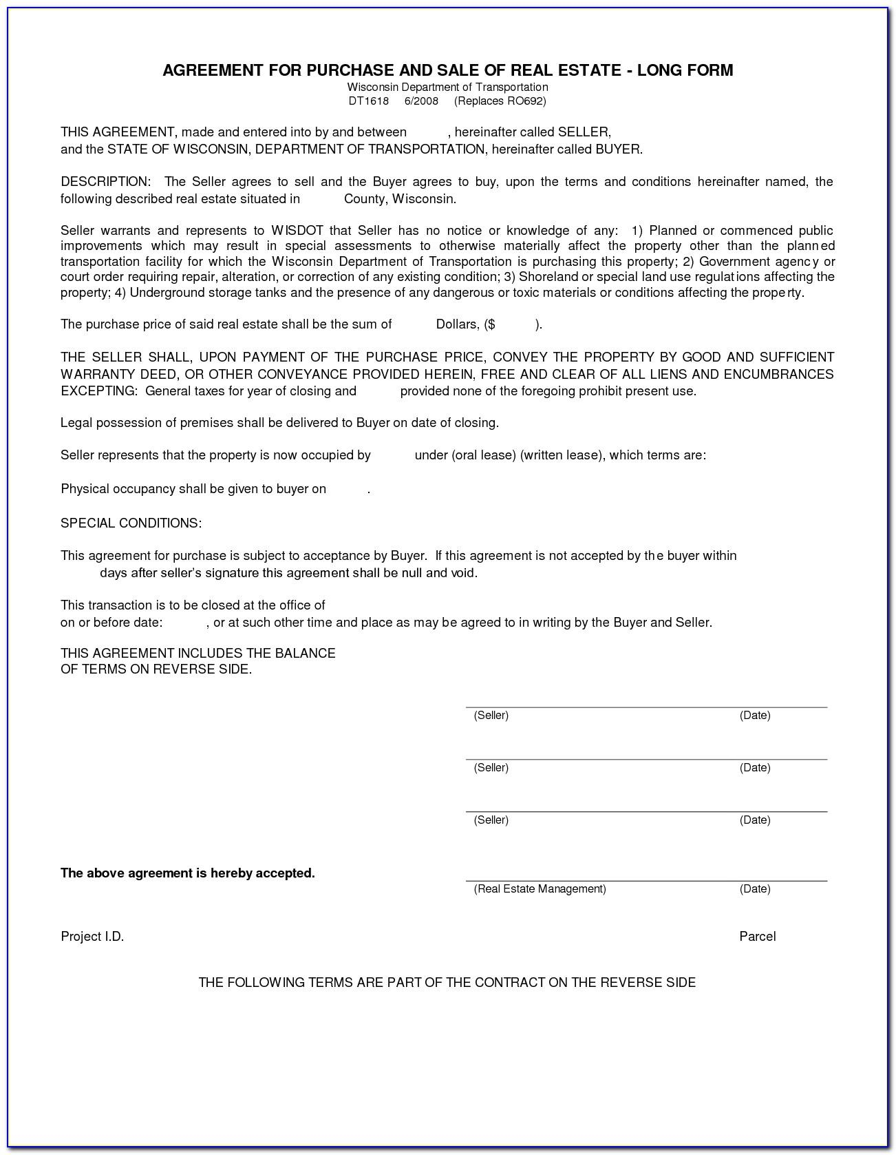Real Estate For Sale By Owner Contract Template Missouri