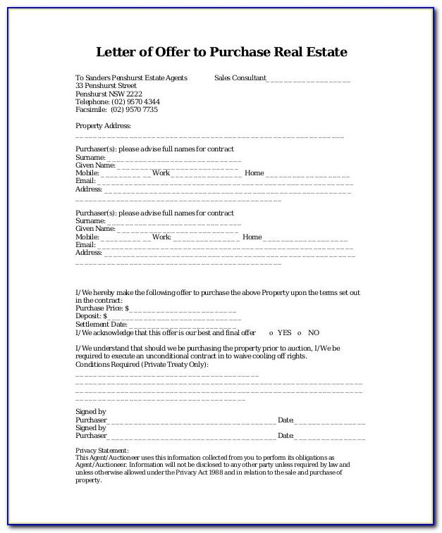 Real Estate Form Templates