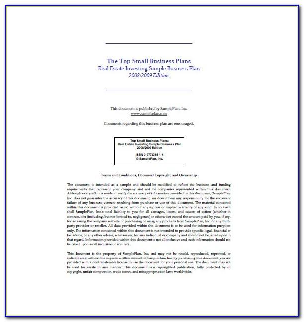Real Estate Investment Funding Proposal Sample
