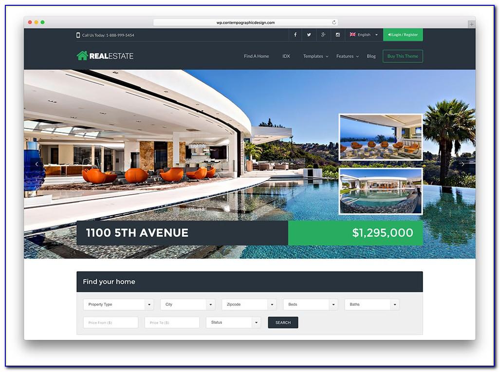 Real Estate Listing Template WordPress