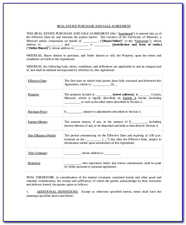 Real Estate Sale And Purchase Agreement Template Nz