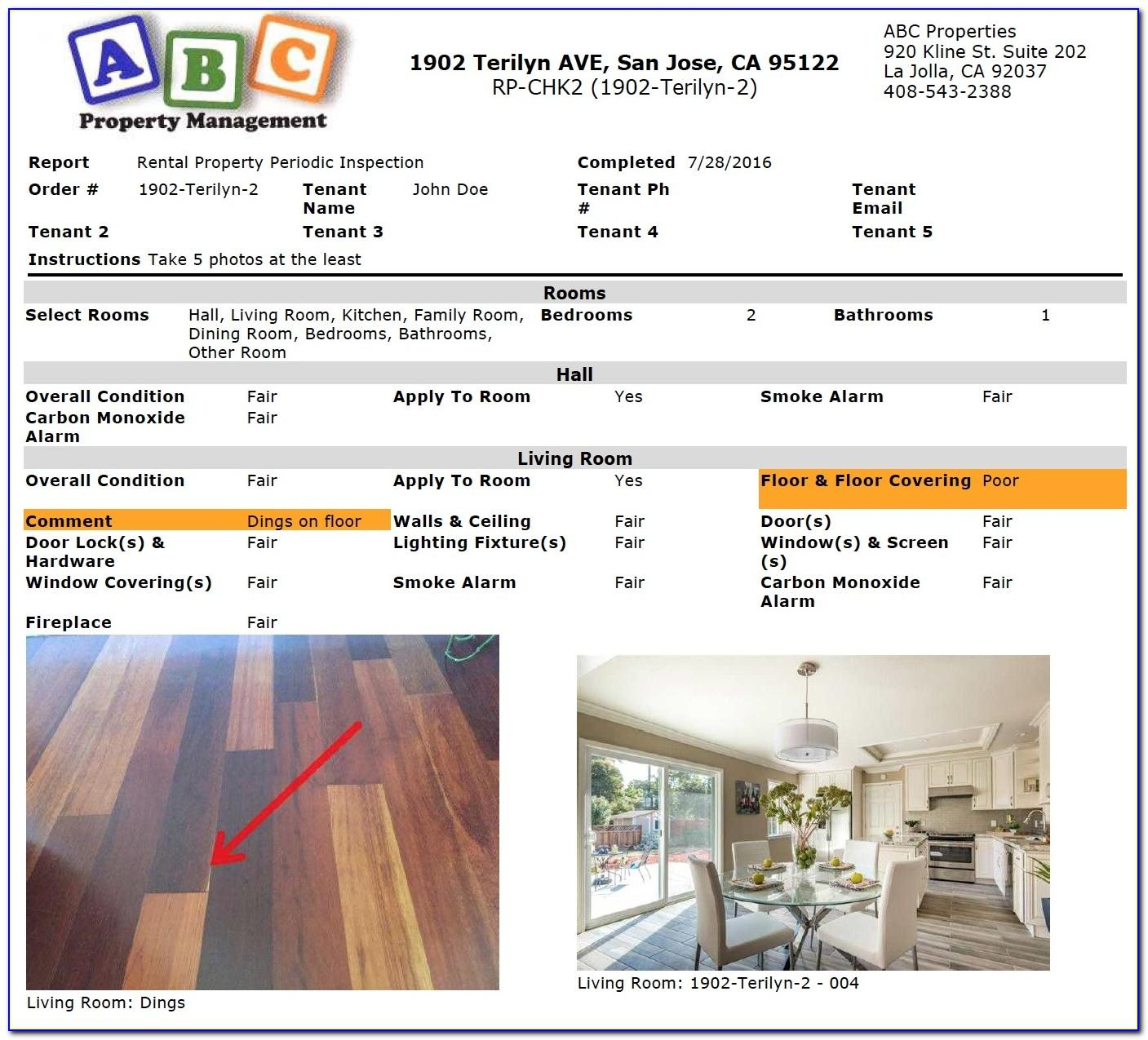 Residential Property Condition Assessment Checklist