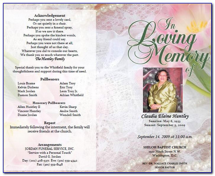 Sample Program Funeral Service
