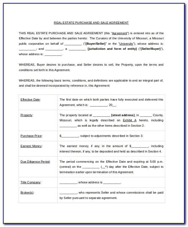 Selling Property Contract Template