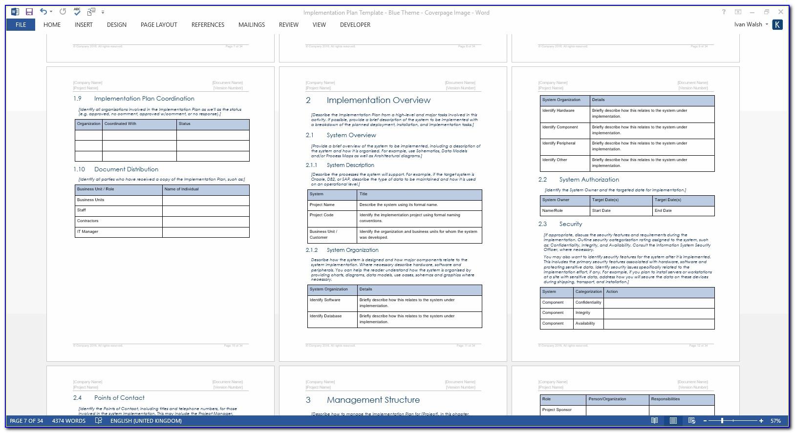 Windows 7 Deployment Project Plan Template