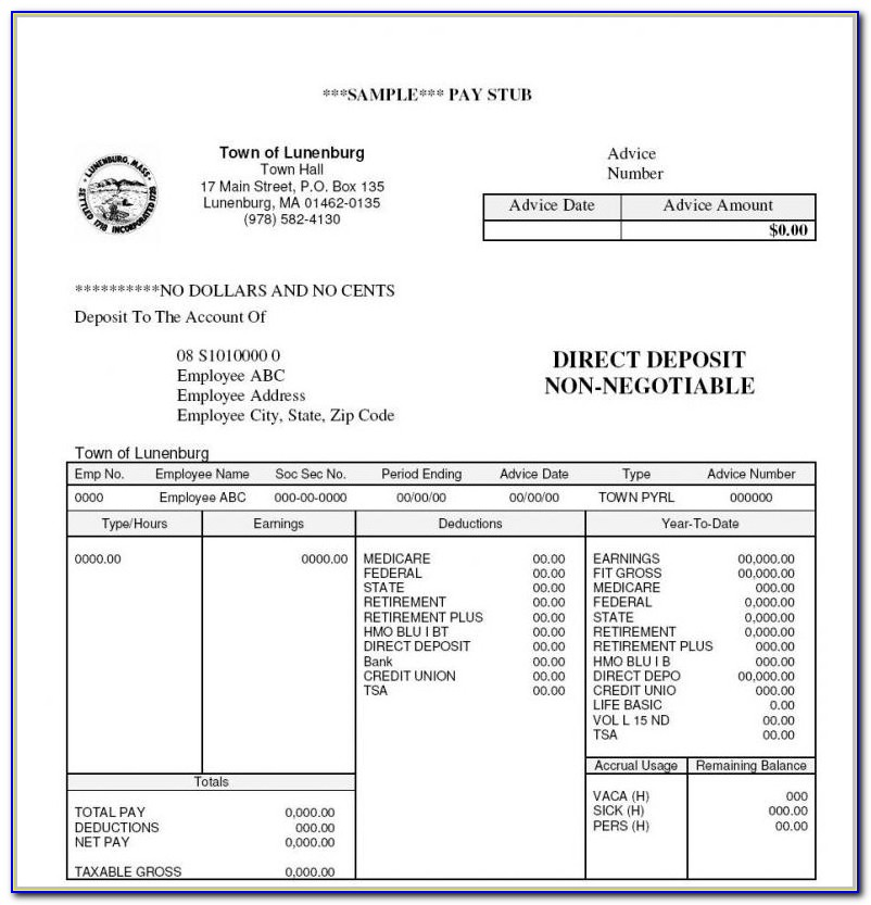 1099 Pay Stub Template Pdf