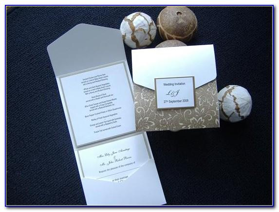 A4 Pocket Fold Invitation Template