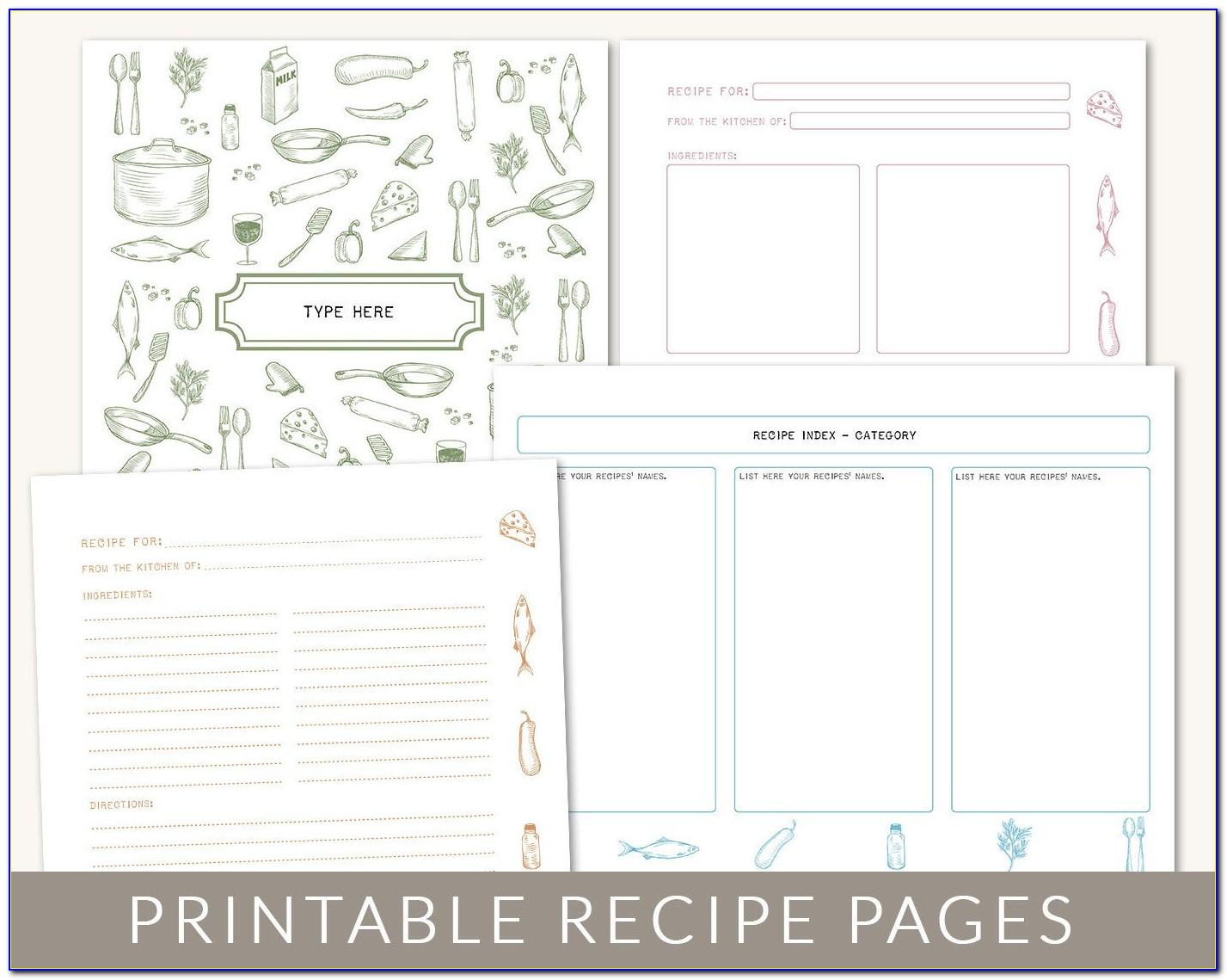 Apple Pages Cookbook Template Free