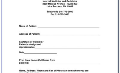 Authorization To Release Medical Records Form California