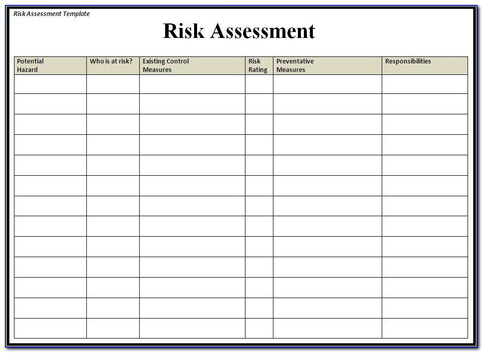 Bank Risk Assessment Template