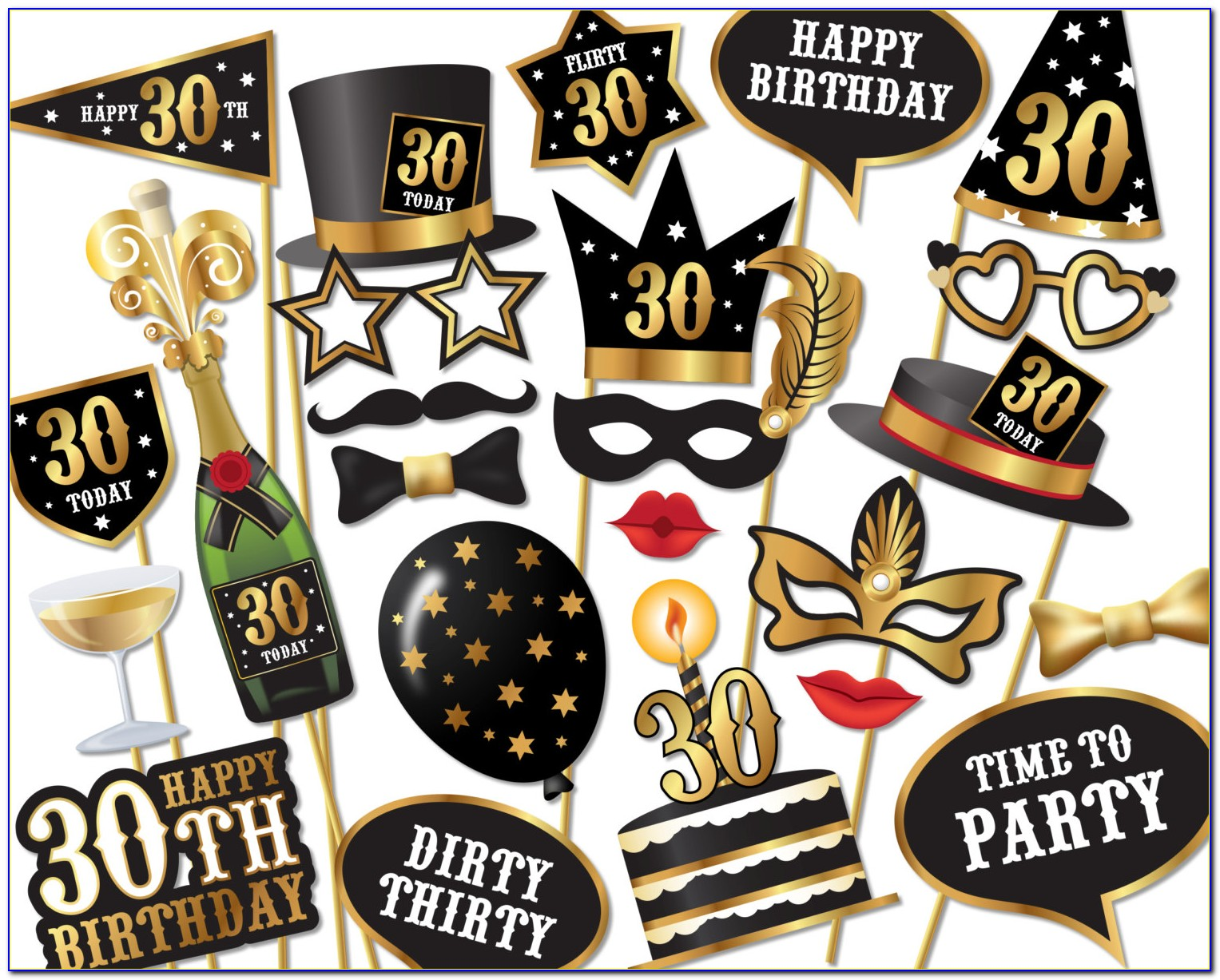 Birthday Photo Booth Props Templates Free