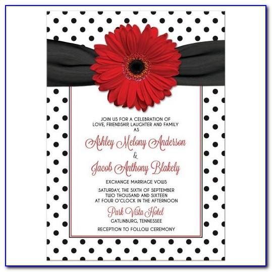 Black And White Polka Dot Invitation Template