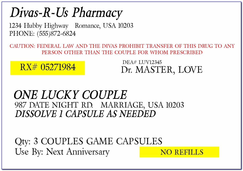 Blank Pill Bottle Label Template