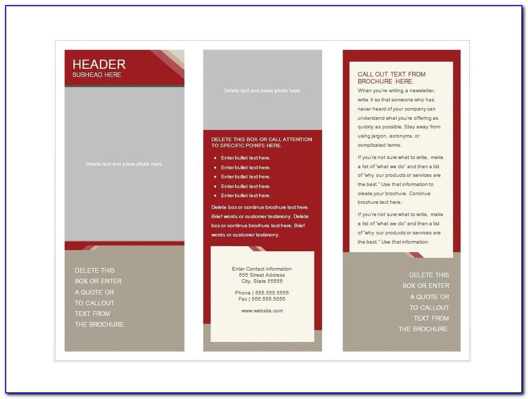 Brochure Design Templates Free Download Word