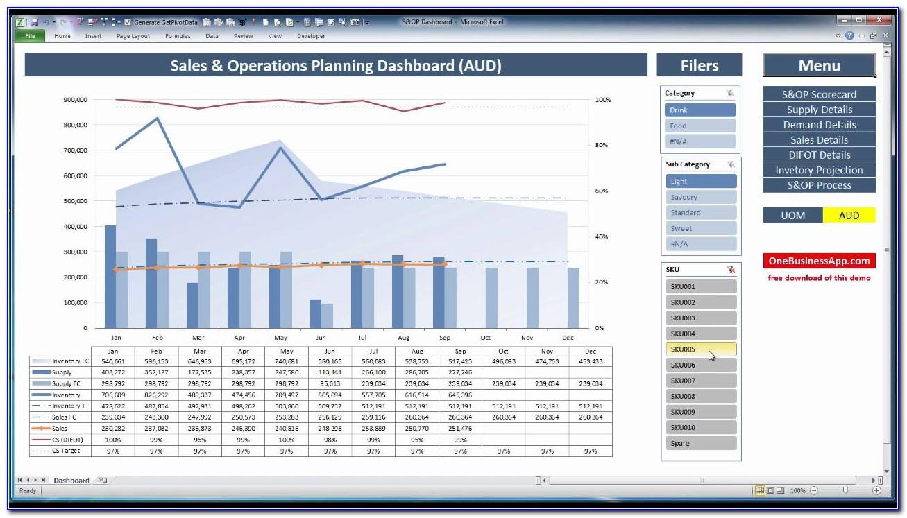 Business Operational Plan Template Excel