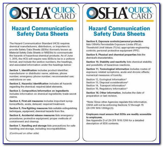 Cal Osha Sample Hazard Communication Program