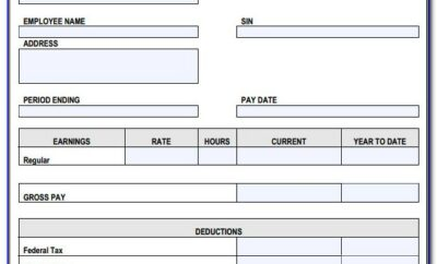 Canadian Pay Stub Template Free