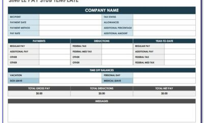 Check Stub Template Download