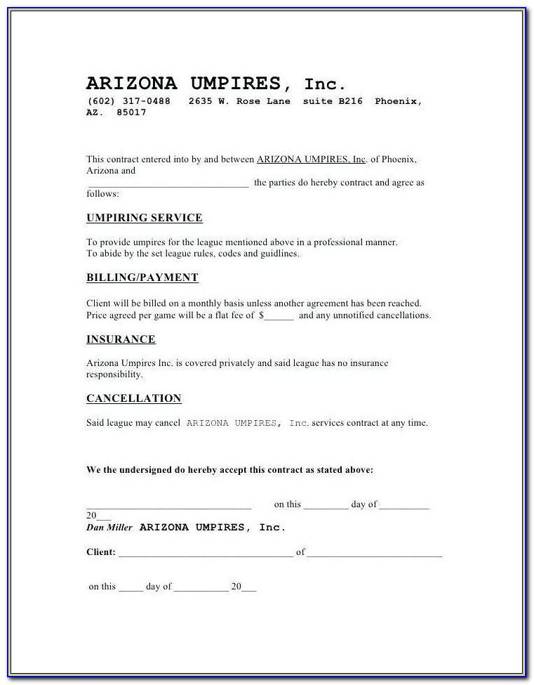 Cleaning Company Contract Sample
