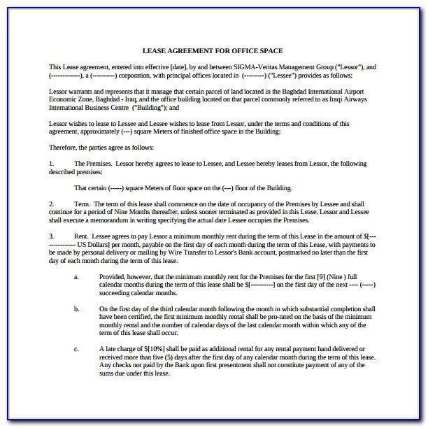 Commercial Lease Agreement Template Free Nsw