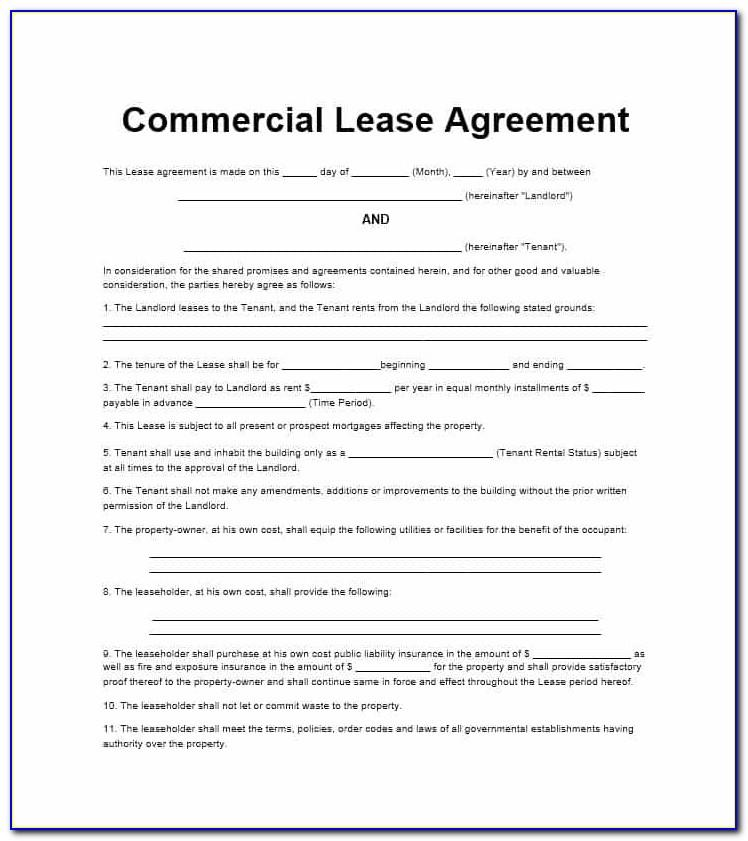 Commercial Lease Agreement Template Uk Free