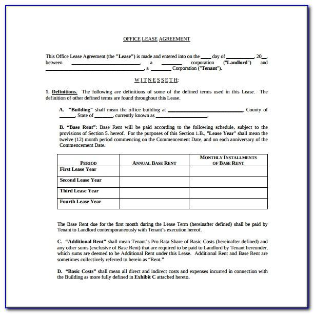 Commercial Lease Template Free Download