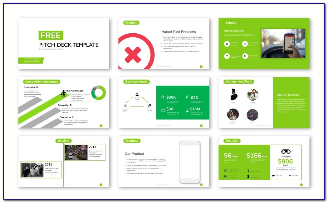 Creative Pitch Deck Powerpoint Template Free Download