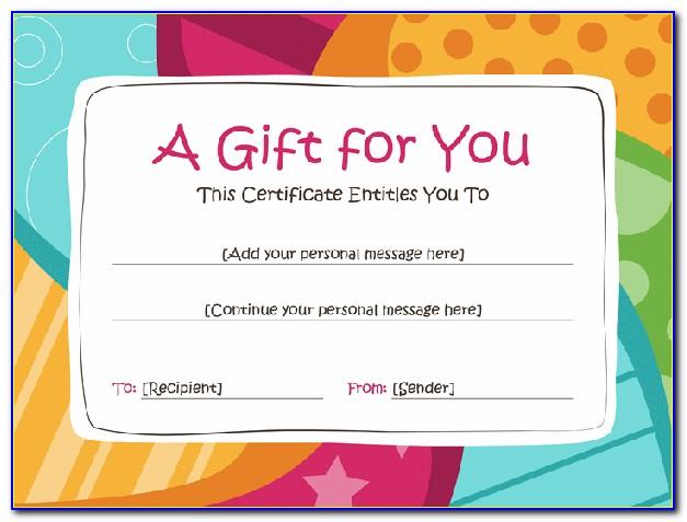 Custom Christmas Gift Certificate Template