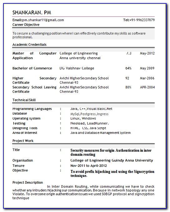 D Pharmacy Resume Format For Freshers Doc