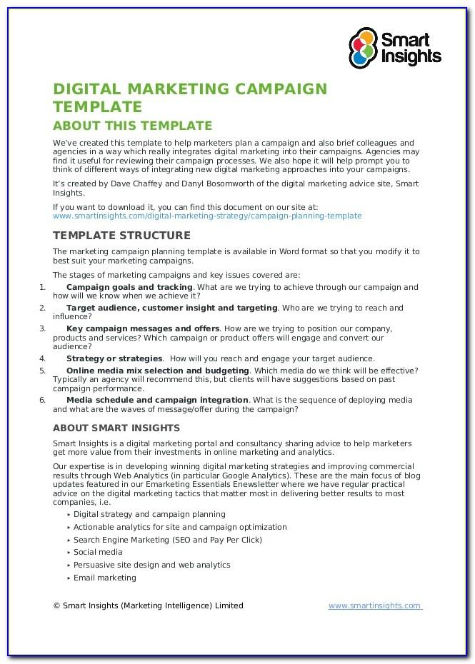 Digital Marketing Campaign Proposal Template