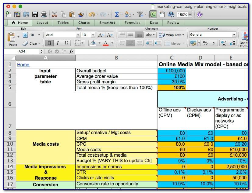 Digital Marketing Plan Sample Pdf