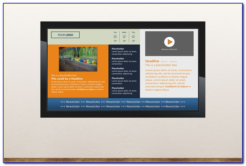 Digital Signage Powerpoint Template Content Creation