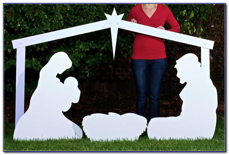 Diy Outdoor Nativity Scene Template