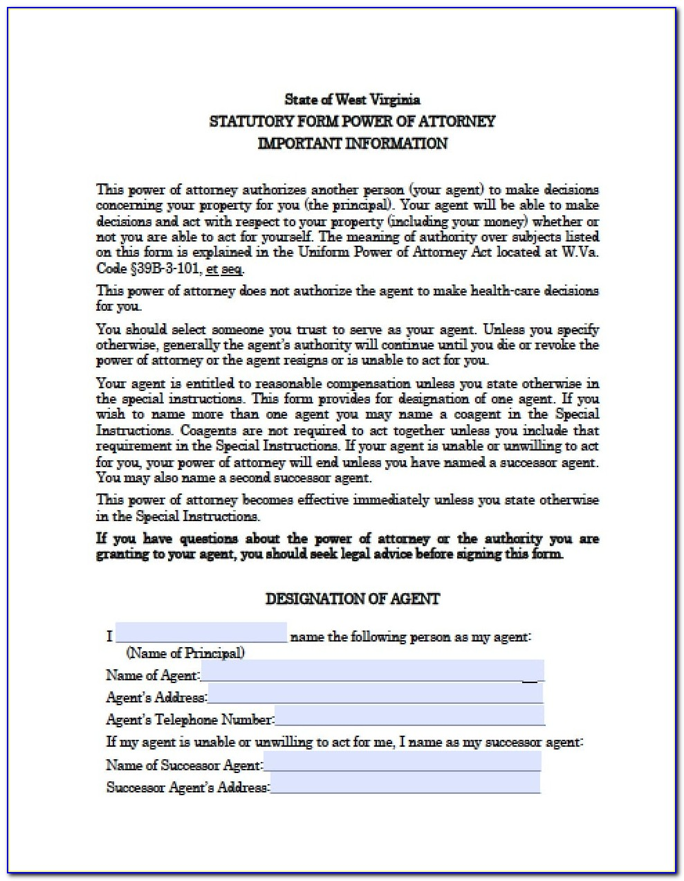 Durable Power Of Attorney Documents Texas