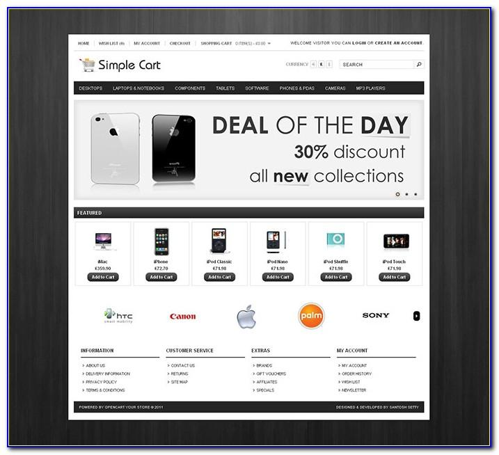Ecommerce Opencart Template Free Download
