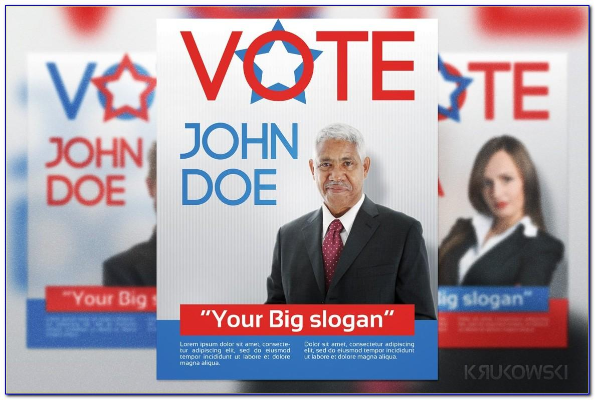Election Brochure Template Free