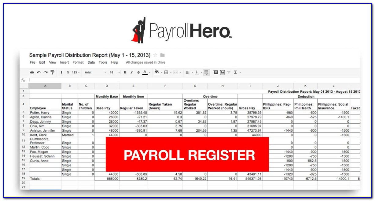 Excel Payroll Calculator Template Free Download