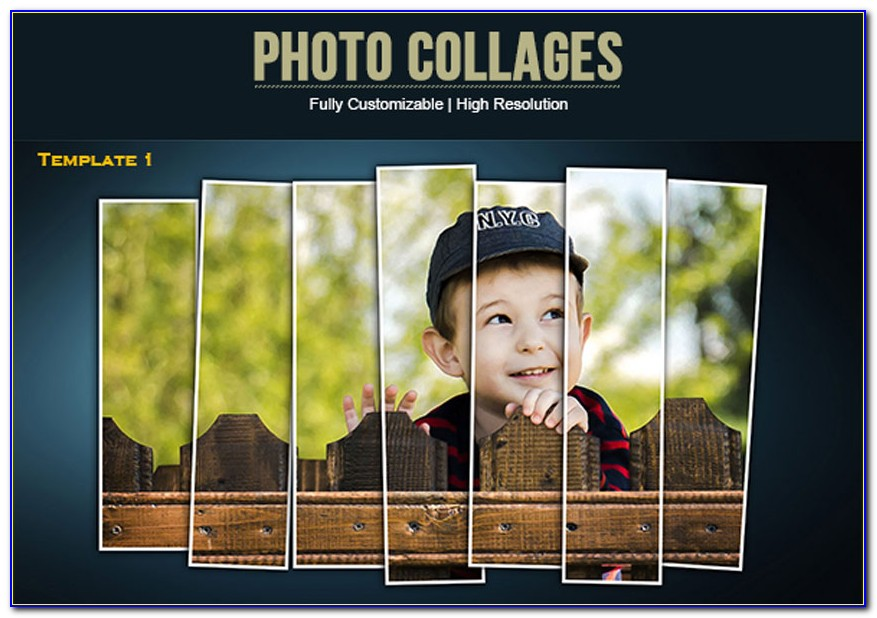 Facebook Cover Photo Collage Template Photoshop