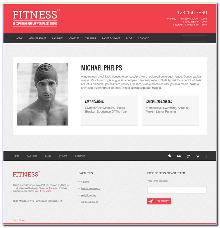 Fitness Trainer Bio Template