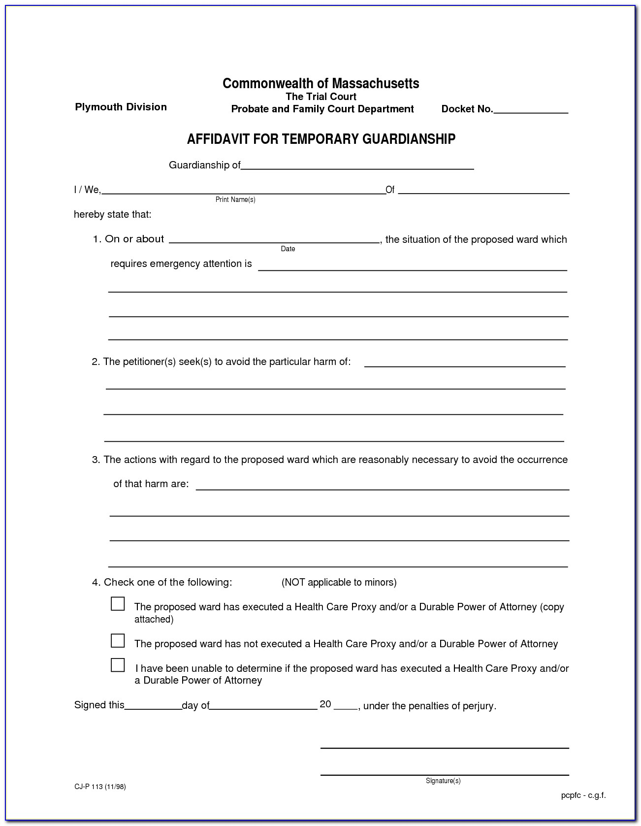 Florida Bar Association Durable Power Of Attorney Form