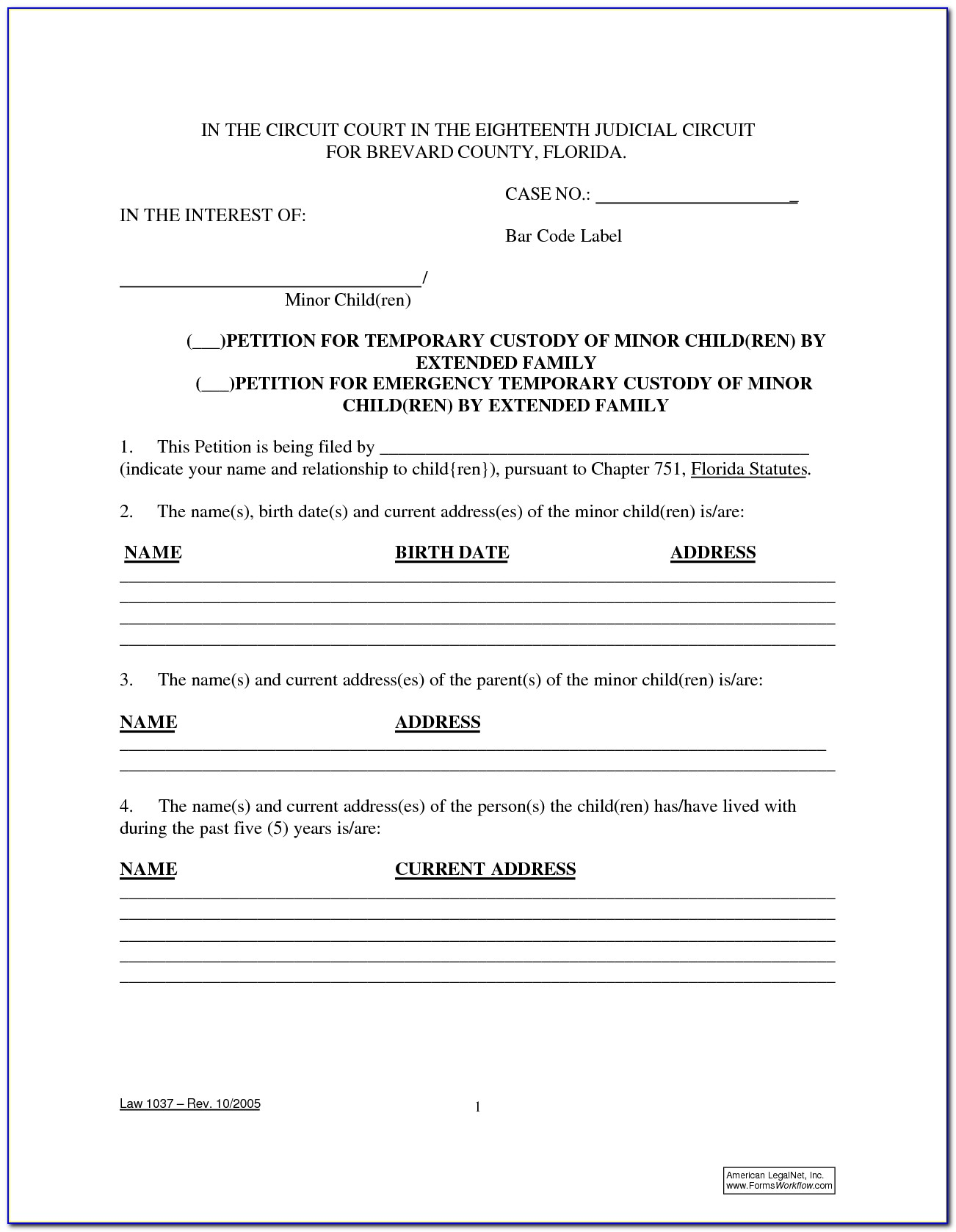 Florida Bar Limited Power Of Attorney Form