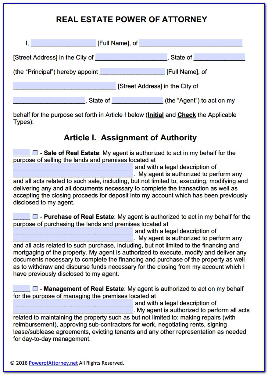 Florida Department Of Motor Vehicles Power Of Attorney Form